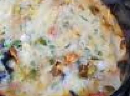 Legumes com creme de queijo by k&m