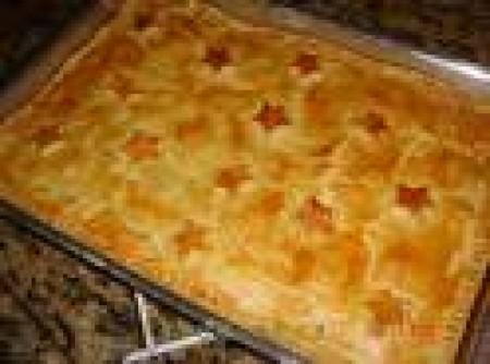 Torta de frango com batata palha