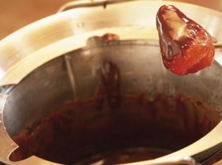 Fondue de chocolate com frutos