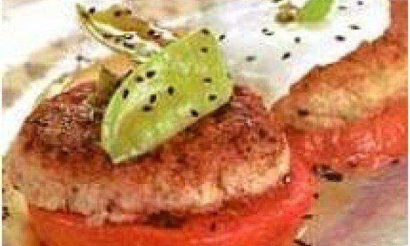hamburguer de frango com alho