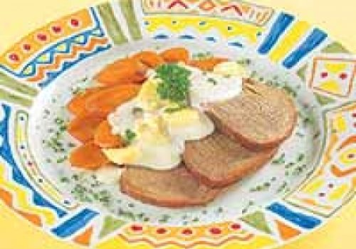 Alcatra ao molho de queijo e cogumelos