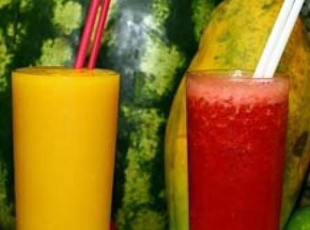 Sucos com sabor de verão