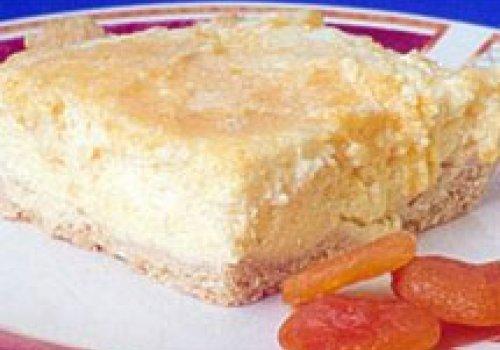 Torta de Ricota com Damasco Diet