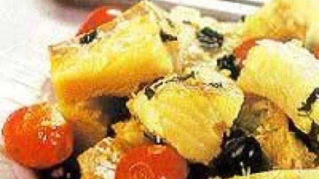 Bacalhau com Tomate-cereja e Azeitona