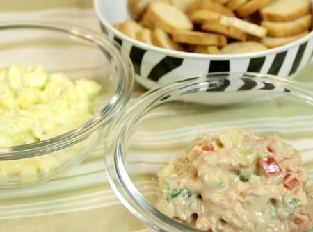 Patê de Atum e Salada de Ovo Light | Web à Milanesa