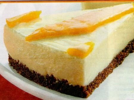 Torta de Leite Condensado com Cream Cheese e Manga
