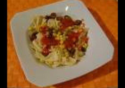 Gravatinha com tomate e manjericão by k&m