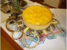 Torta de Abacaxi com Geleia de Brilho