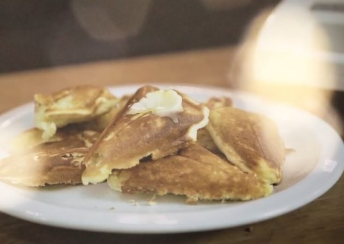Waffles na Sanduicheira