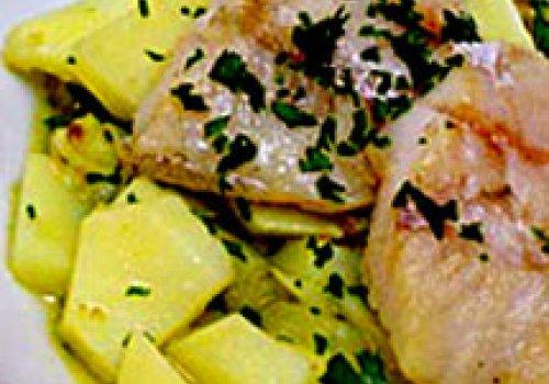 Peixe com Batatas em Salsa Verde