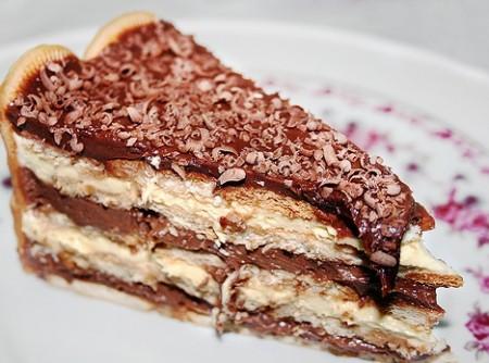 Pavê de Chocolate com Bolacha Maizena