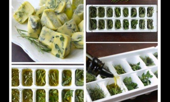 Cubinhos de azeite e ervas