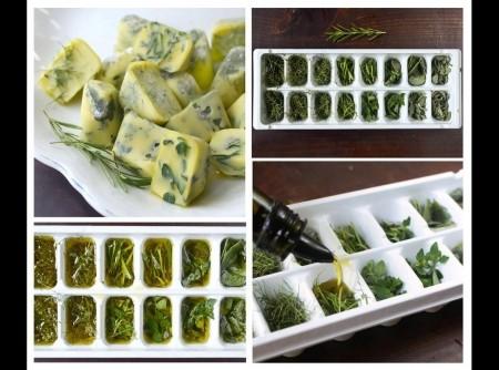Cubinhos de azeite e ervas | Celia Maria F. de Carvalho