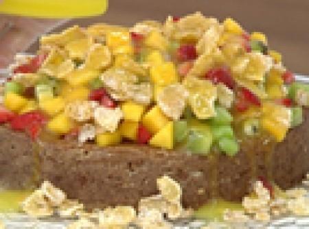 Torta de Flocos de Milho Tropical | rodrigo luti