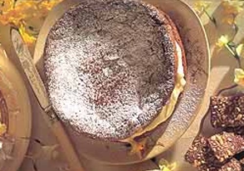 Bolo de Chocolate com Queijo Cremoso