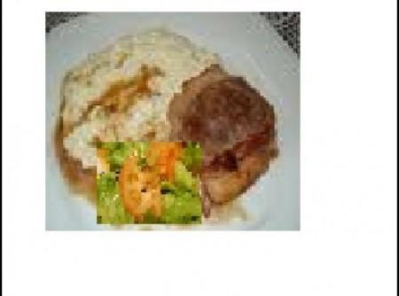 Medalhão com arroz a piamontese