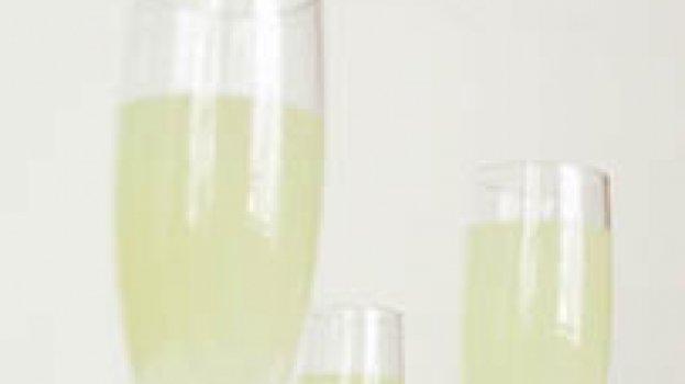 Champangne com polpa de abacaxi