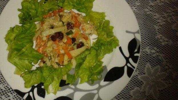 Salada Natalina de Bacalhau