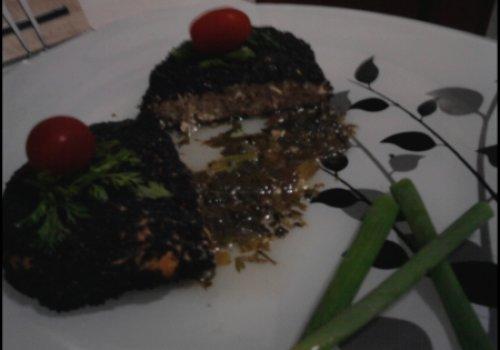 Steak de Frango com Gergelim