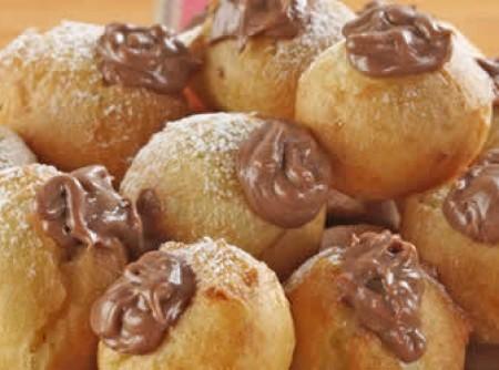Bombinhas fritas de chocolate
