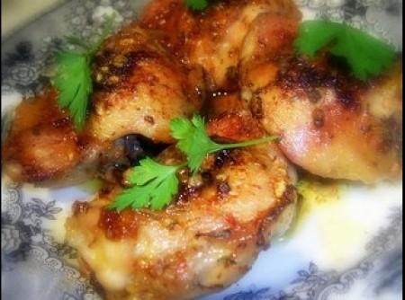 coxas de frango com tomilho