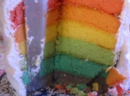Bolo arco-íris   Miriam Z. Annicchino