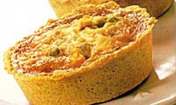 Tortinha de legumes com crean chesee