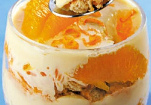 Pavê de ganache de laranja