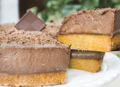 Bolo de Cenoura com Mousse de Nutella