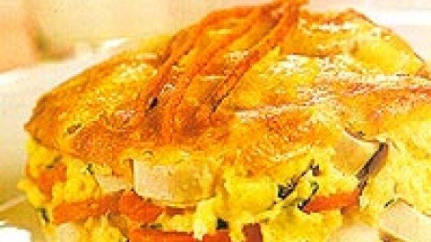 Torta de Palmito com Cenoura