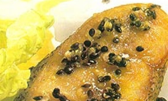 Abadejo ao Pesto de Sementes de Maracujá