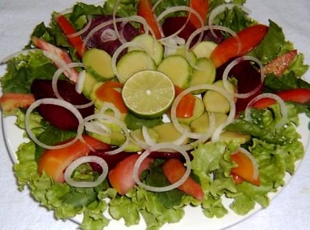 Salada de Abobrinha com beterraba