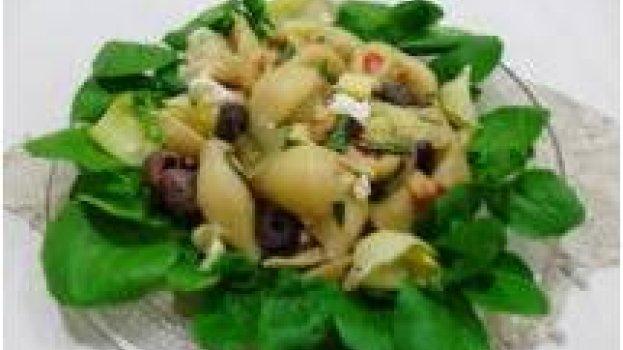 Salada de Macarrão com Alcachofra