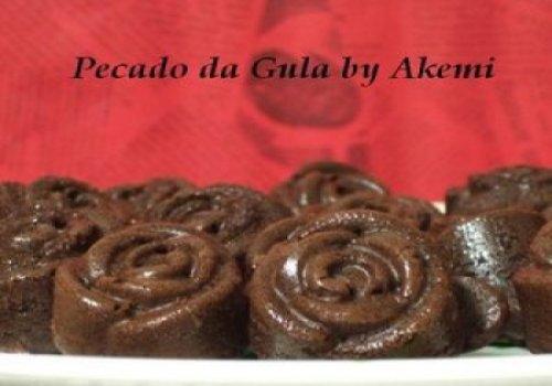 madeleines de chocolate e limão