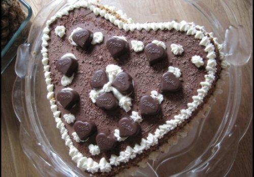 Torta Coração de Chocolate
