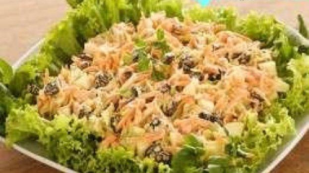 Salada de Vegetais com Uvas-passas