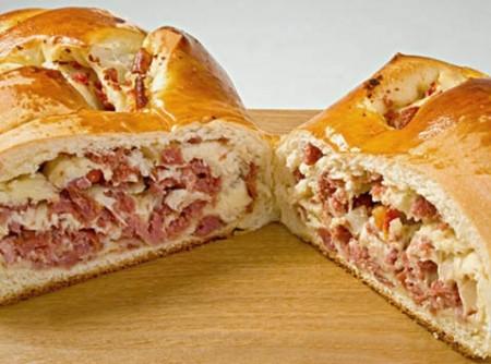 Pão Recheado com Presunto de Parma
