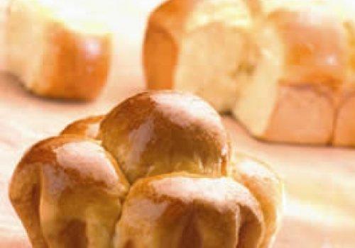 brioche de presuno e queijo
