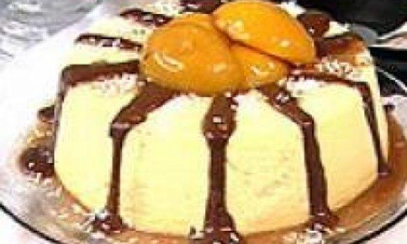 mousse de pessego com chocolate