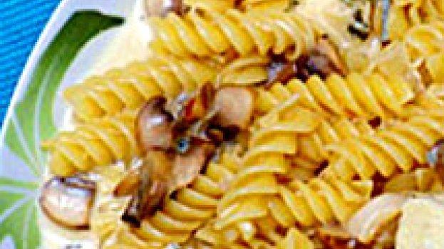 Penne com Gorgonzola e Cogumelos