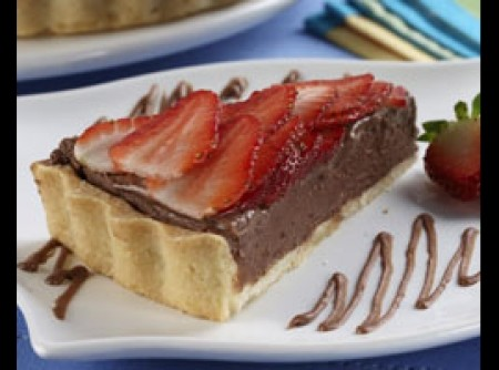 Torta de Chocolate com Nutella e Morango