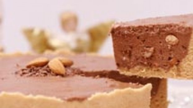 Tarte de Amêndoas com Chocolate