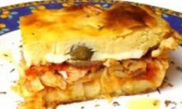 Torta de Bacalhau com Massa de Batata