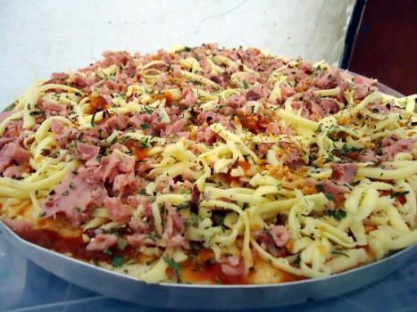 Pizza de Presunto e Bacon
