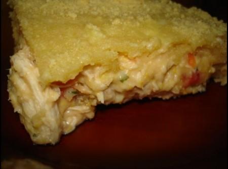 Torta de frango e milho