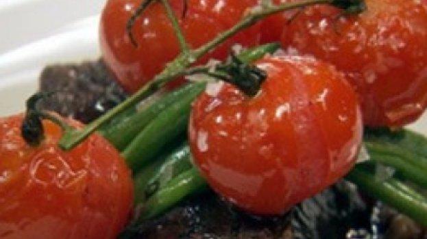 Purê de Batata ao Alho, Vagens e Tomates