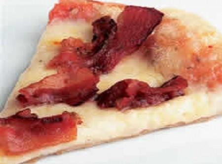 Pizza de bacon da silvaninha