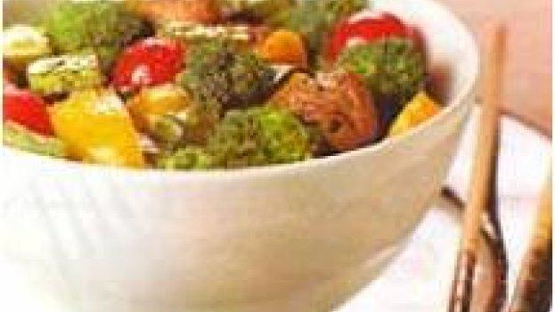 File suíno com legumes