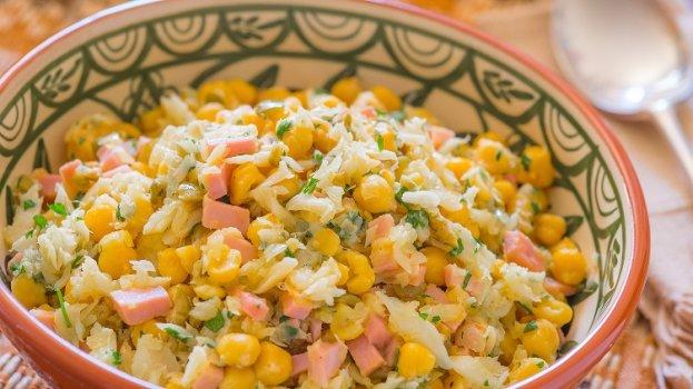 Salada Quente de Bacalhau com Grão-de-Bico