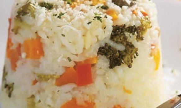 Arroz com legumes ao forno